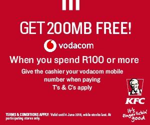 KFC Vodacom promo
