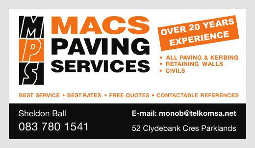 Macs Paving Services